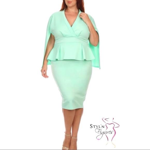 Sexy Diva Dresses Plus Size Midi Length Bodycon Dress Poshmark
